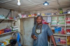 SHS beneficiary: Mr Zakari Jibril Adamu, a pharmacist at Kokona LGA enjoying his solar system.